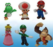 Super Mario Bro. 6pcs PVC Action Figure Set Kids Toy Christmas Gift Game Luigi