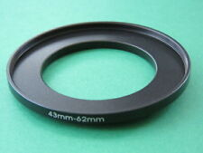 43mm-62mm Stepping Step Up Male-Female Lens Filter Ring Adapter 43mm-62mm