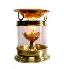 Brass Aromatherapy Burner Hindu Puja Deepak Oil Lamp /Free Item RELIGIOUS EDH