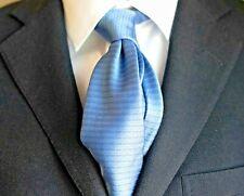 Louis Vuitton Luxury Designer Silk Tie Made In Italy Sky Blue Logo
