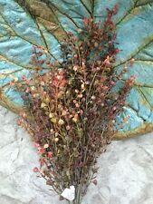 21 inch RED PEPPERGRASS BUSH ARTIFICAL GREENERY SILK FLOWER ARRANGEMENT FLORAL