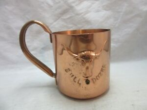 Vintage copper Bull Dozer mug