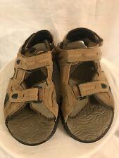 Kid Connection Boy's Tan Suede Leather Sport Sandals Sz 5 M