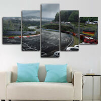 Framed Nurburgring Rally Circuit Track Poster 5 Pcs Canvas Print Wall Art Decor