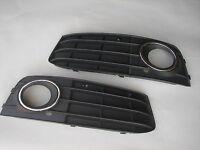 Gitter Blenden für Stoßstange für AUDI A4 B8 A4L 2009-2012 Schwarz mit Chromring