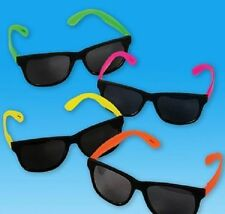 48 Pairs NEON SUNGLASSES 80's Retro Luau Party Favor DJ Giveaway Free Shipping