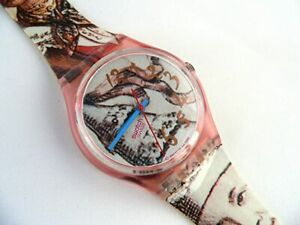 """SWATCH GP105 """"MASQUERADE"""" COMPLETE AS SHOWN 1993 VINTAGE"""