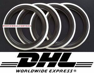 "12"" Black&Whitewall Portawall Tyre insert Trim Set  Austin mini cooper."