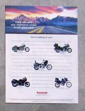 KAWASAKI VN 1500 750 GTR 1000 KLR 650 Motorcycle Magazine Page Ad Advertisement