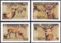 Tajikistan 2009 WWF/Red Deer/Animals/Nature/Wildlife/Conservation 4v set  n46183