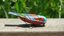 Vintage German Wind Up Lithograph Tin Metal Toy Bird December 27, 1927
