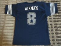 Troy Aikman #8 Dallas Cowboys Super Bowl NFL Jersey Youth XL 18-20