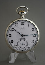 Vintage Omega Silver Pocket Watch cal.40.6L Swiss Louis Brandt & Freres Case