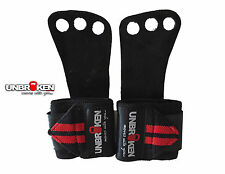 Crossfit Gloves Grips wrist wraps 2 in1 men women leather palm protector WOD new