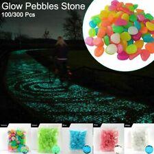 100Pcs Pebbles Rock Fish Tank In The Dark Glow Stones Aquarium Garden Walkway