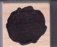 "solid circle blob magenta  Wood Mounted Rubber Stamp  1 1/2 x 1 1/2"" Free Ship"