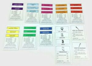 Monopoly Lord Of The Rings Trilogy Edition Deed Cards, Complete Set Parts  FREE!