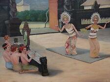 Oil Painting On Canvas - Indonesian Celebration Dance - M Parker