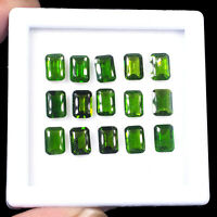 15 Pcs Natural Chrome Diopside 7mm/5mm Vivid Green Premium Quality Gemstones Lot