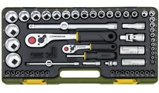 """Proxxon 23286 Steckschlüsselsatz 65tlg 1/4 + 1/2 """" Knüppelratsche Knarrenkasten"""