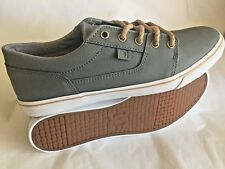 NEW! D C TONIK W XE WOMENS GRAY LEATHER LACE UP SNEAKERS SHOES 8.5 M