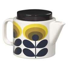 ORLA KIELY 70's Ceramic Tea Pot, 1 litre, Flower Oval, Yellow