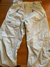 Men's The North Face Hyvent Gray Snowboard Ski Pants Small EUC