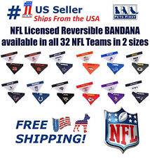 Pets First NFL Dog Bandana - Licensed, Reversible Pet Bandana - 2 sided Bandana