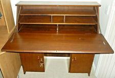 MAGNIFICENT VINTAGE 1940's Art Deco Secretaire Bureau Writing Desk Lockable Key
