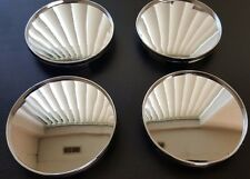 "Set of 4 Universal Chrome Empty Wheel Center Caps 68mm/ 2 11/16"""