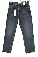 Neues AngebotTopshop Hoch Tailliert Straight Leg Cropped Schwefel blau Jeans Größe 8 w26 l32 NEU