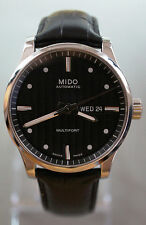 MIDO Multifort Day Date Automatic Swiss Watch M005430A Stainless Black Dial 42mm