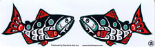 Kissing Salmon - Small Bumper Sticker / Decal