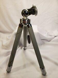 "Vintage Ising Bergneustadt Telescoping 40"" Surveyor Tripod +Leather Case Germany"