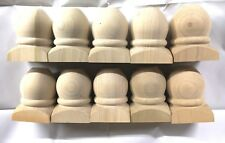 Lot of - 10 - Wood furniture feet made from poplar 4