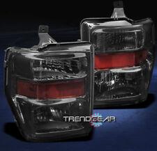 2008 2009 2010 FORD SUPER DUTY CRYSTAL HEADLIGHTS LAMP SMOKE F250 F350 F450 F550