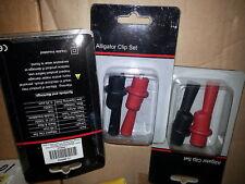 NIB Alligator Clip Set Cat iii 1000 V sheathed banana plug 4WRA8 10 Amp ... EACH