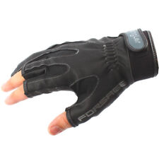 Angler PU Leather A-011 / 3 Cut Finger Fishing Hunting Gloves
