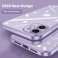 New Square Plating Edge Cover Case For iPhone SE 2020 11 Pro Xs Max XR X 8 6s 7+