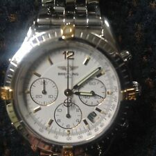 BREITLING 18K & STAINLESS STEEL AUTOMATIC CHRONO COCKPIT 42 JEWELS