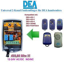 DEA 433-2,4 DEA GENIE, DEA PUNTO 2/4 kompatibel universal 2-kanal Funkempfänger