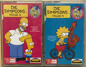 Die Simpsons Kassette Folge 3 und Folge 4 | Hörspielkassetten MC