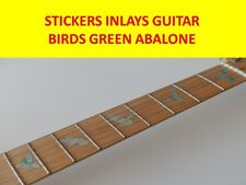STICKERS INLAY BIRDS GREEN ABALONE DECALS VISIT OUR STORE WITH MANY MORE MODELS
