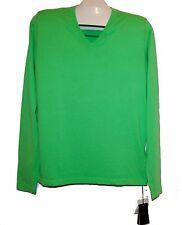 Patrizia Pepe Green V-Neck Cotton Knitted Men's Shirt Sweater Size 2XL NEW
