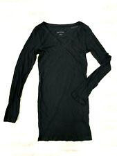 NWOT Ingrid and Isabel Black Basic V-Neck Long Sleeve Shirt size:Small