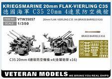 VETERAN 1/350 VTW-35057 GERMAN NAVAL KRIEGSMARINE 20mm FLAK-VIERLING C35