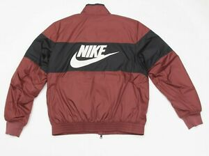 Mens Nike Synthetic Down Fill Bomber Jacket Red/Black AJ1020-236 Sz Large