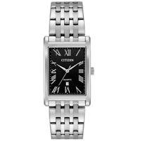 Citizen Men's Quartz Roman Numerals Silver-Tone Bracelet 25.5mm Watch BH3000-68E