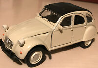 CITROEN 2CV 1:32 Scale Diecast Model Car Red or Cream Free Post UK