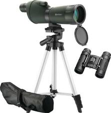 Barska Colorado 20-60x60mm Spotting Scope & 8x21mm Binoculars, Tripod Case NEW